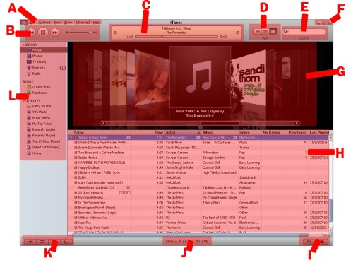 iTunes screen 1 - Parts