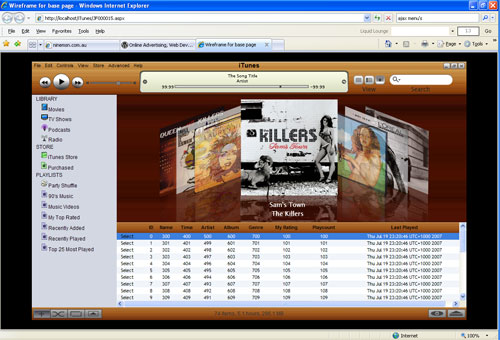 iTunes Wood all