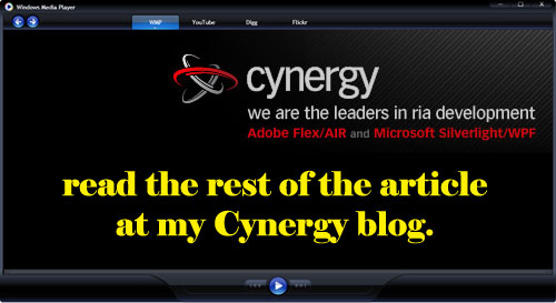 Cynergy Link to my blog posting for Windows Media Player 2