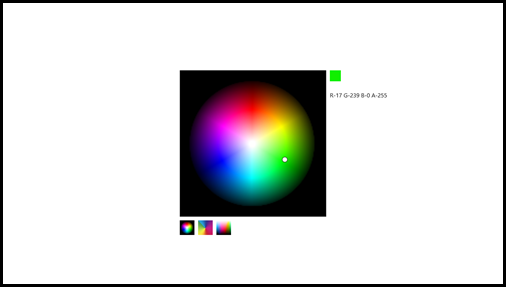 WinRT/XAML Colour Picker (using SharpDx)